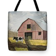 Cow And Barn Tote Bag by Norm Starks