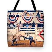 Cowboy Up Tote Bag by Charles Dobbs