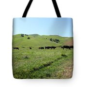 Cows Along The Rolling Hills Landscape of The Black Diamond Mines in Antioch California 5D22346 Tote Bag by Wingsdomain Art and Photography