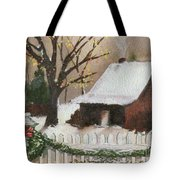 Cozy Cottage Tote Bag by Cheryl Young
