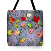 Cracked Mud And Leaves Tote Bag by Inge Johnsson