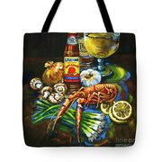 Crawfish Fixin's Tote Bag by Dianne Parks