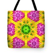 Crazy Daises - Spring Flowers - Bouquet - Gerber Daisy Wanna Be - Kaleidoscope 1 Tote Bag by Andee Design
