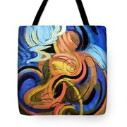 Creation Of Man Tote Bag by Anthony Falbo