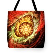 Creation Of Sun Tote Bag by Lourry Legarde