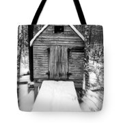 Creepy Cabin In The Woods Tote Bag by Edward Fielding