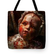 Creepy - Doll - It's best to let them sleep  Tote Bag by Mike Savad