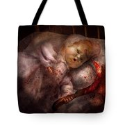Creepy - Doll - Night Terrors Tote Bag by Mike Savad
