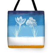Crocus Flower Tote Bag by Aged Pixel