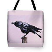 Crow - Sounding Off Tote Bag by Crista Forest