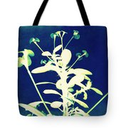 Crown of Thorns - Blue Tote Bag by Shawna  Rowe