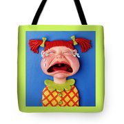 Crying Girl Tote Bag by Amy Vangsgard