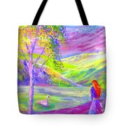 Crystal Pond Tote Bag by Jane Small