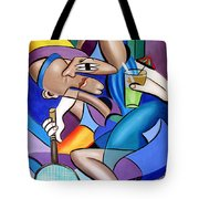 Cubist Tennis Player Tote Bag by Anthony Falbo