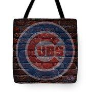 Cubs Baseball Graffiti On Brick  Tote Bag by Movie Poster Prints