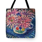 Cup Of Flowers Tote Bag by Kendall Kessler