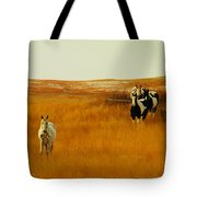 Curious Ponys  Tote Bag by Jeff Swan