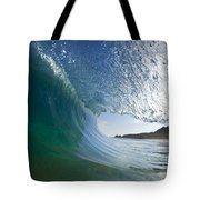 Curtain Coming Down Tote Bag by Sean Davey