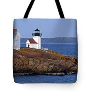 Curtis Island Lighthouse Tote Bag by Skip Willits