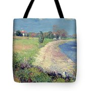 Curving Beach Tote Bag by William James Glackens