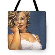 Curvy Beauties - Marilyn Monroe Tote Bag by Malinda  Prudhomme