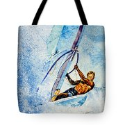 Cutting The Surf Tote Bag by Hanne Lore Koehler
