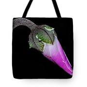 Cyclamen Bud Macro Tote Bag by Kaye Menner