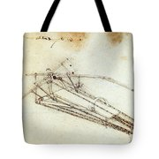 Da Vinci Flying Machine 1485 Tote Bag by Science Source
