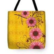Daisies Design - S01y Tote Bag by Variance Collections