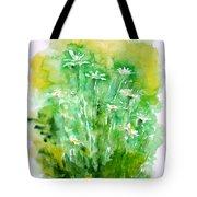 Daisies Tote Bag by Zaira Dzhaubaeva