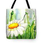 Daisy Field Tote Bag by Annie Troe