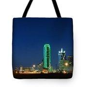 Dallas Skyline Tote Bag by Charles Dobbs