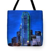 Dallas Skyline Hd Tote Bag by Jonathan Davison