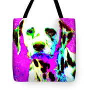Dalmation Dog 20130125v1 Tote Bag by Wingsdomain Art and Photography