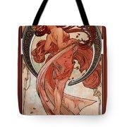 Dance Tote Bag by Alphonse Maria Mucha