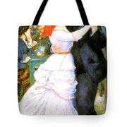 Dance At Bougival Tote Bag by Pierre Auguste Renoir