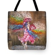Dance Through The Color Of Life Tote Bag by Karina Llergo