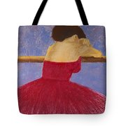 Dancer In The Red Dress Tote Bag by David Patterson