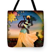 Dancer Of The Balcony Tote Bag by Bedros Awak
