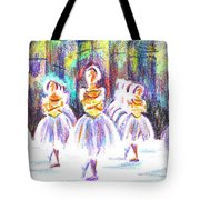 Dancers In The Forest II Tote Bag by Kip DeVore
