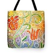 Dancing Flowers Tote Bag by Linda Bailey