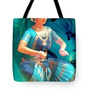 Dancing Girl With Gold Necklace Tote Bag by Janette Boyd