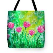 Dancing Tulips Tote Bag by Jan Marvin