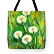 Dandelions Tote Bag by Zaira Dzhaubaeva