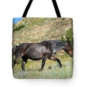 Dark and Wild Horse Tote Bag by Sabrina L Ryan