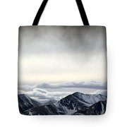 Dark Storm Cloud Mist  Tote Bag by Barbara Chichester