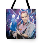 Dave Matthews And 2007 Lights Tote Bag by Joshua Morton