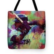 David Ortiz Abstract Tote Bag by David G Paul