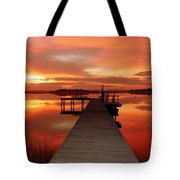 Dawn Of New Year Tote Bag by Karen Wiles