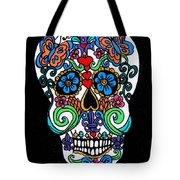 Day Of The Dead Skull Tote Bag by Genevieve Esson
